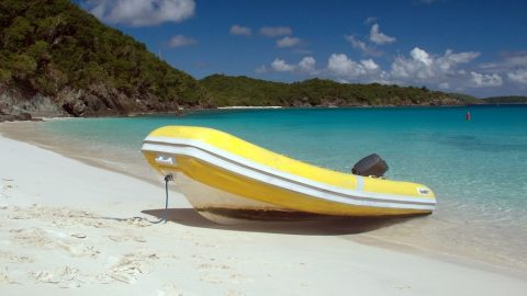 Day on a dinghy in the Caribbean
